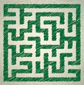 Vector illustration of maze
