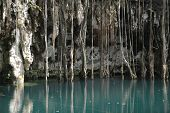 foto of groundwater  - cenote in mexico - JPG