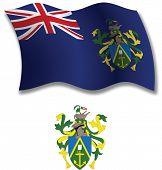 Pitcairn Islands Textured Wavy Flag Vector