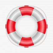 Vector illustration of a life buoy. Elements are layered separately in vector file. Mesh used.