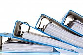 file folder with documents and documents. retention of contracts.
