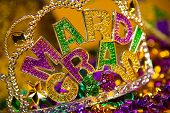 stock photo of carnivale  - colorful Mardi Gras crown decoration - JPG