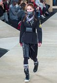 NEW YORK-FEB 13: A model walks the runway at the Marc Jacobs fashion show during Mercedes-Benz Fashi