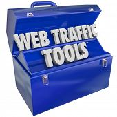 Web Traffic Tools Words in Toolbox Boost Online Visitors Customers