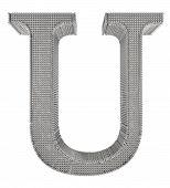 Chain Link Steel Alphabet - U