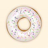 White Donut. Vector Illustration