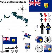 Map Of Turks And Caicos Islands