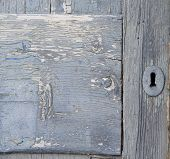 Old Door With Keyhole