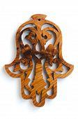 pic of hamsa  - Authentic Moroccan thuya wood amulet - JPG