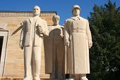 sculptures at Ankara, Turkey - Mausoleum of Ataturk