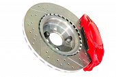Assembled Caliper Disc And Pads Of Car Brake System