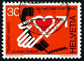 Postage Stamp Switzerland 1975 Helping Hand