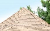 foto of gusset  - New roof covered with tiles - JPG