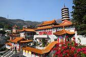 Western Monastery pagoda and temple