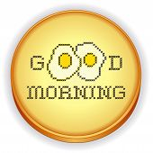 Embroidery, Good  Morning With Fried Eggs Cross Stitch