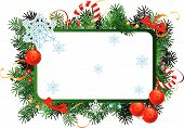 picture of christmas ornament  - Christmas  vector frame with red Christmas balls - JPG