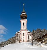 Maria Gern Chapel in Berchtesgadener Land, Bavarian Alps, Germany
