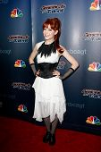 NEW YORK-AUG 6: Rock violinist Lindsey Stirling attends the 'America's Got Talent' post show red car