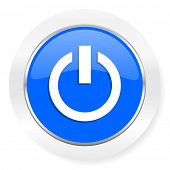 power blue glossy web icon