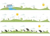 Header Illustration Featuring Renewable Sources of Energy