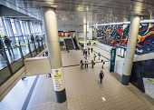 TOKYO, JAPAN - MARCH 30, 2014: Shibuya Station interior. It is Japan's fourth busiest station.