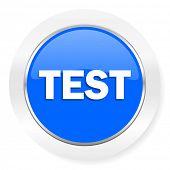 test blue glossy web icon