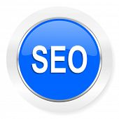 seo blue glossy web icon