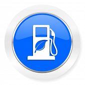 biofuel blue glossy web icon