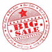 Grunge Big Sale Rubber Stamp