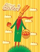 Postcard with rabbit