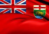 Flag Of Manitoba, Canada.
