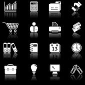 Business icons - black series