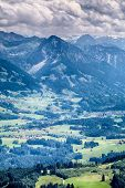 Peaks In The Alps By Summer