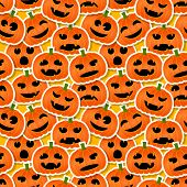 Halloween Pumpkins - Seamless Pattern