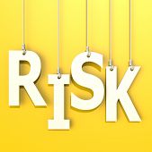 Risk Word In Orange Background