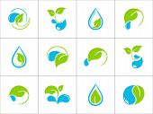 Leaves and water icons