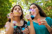 Blowing Bubbles With My Friend