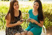 Happy Teens Social Networking