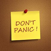 Do Not Panic Words On note
