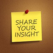 Share Your Insight Words On sticky note