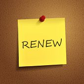 Renew Word On note paper
