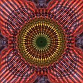 Red Yellow Mandala Fractal