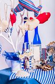 Decoration on the marine theme with seashells