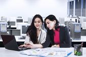 Two Young Businesswomen In Office 3