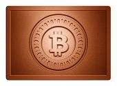 Bronz Bitcoin Plate