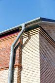 Rain Gutter System After Building Renovation