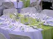 Catering Table Green