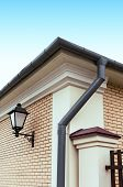 Rain Gutter With Drainpipe