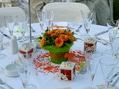 Wedding Table Closeup
