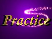 Practice- Inscription With Luminous Line With Spark